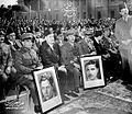 M Naguib at Cairo university- Martyers students of Fedaeyyin war 1953.jpg