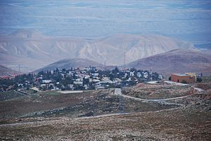 Ma'ale Efrayim - a view on Ma'ale Efraim from the west