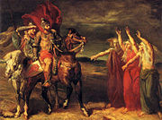 Macbeth and Banquo meeting the witches on the heath by Théodore Chassériau.