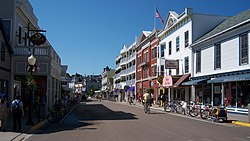 Downtown Mackinac Island along M-185