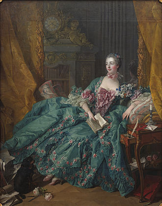 Madame de Pompadour - Portrait by François Boucher, 1756. Currently displayed at the Alte Pinakothek, Munich.