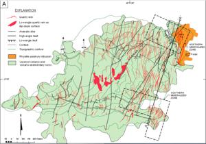 Mahd adh Dhahab - Mahd adh Dhah gold deposit geologic map
