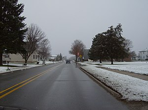Russiaville, Indiana - Along Main Street in Russiaville