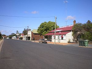 Darling Downs - A wide street in the small town of Nobby