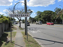 Mains Rd 43 N Sunnybank sign.jpg