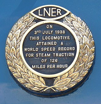 National Railway Museum - ''Mallard'' record plate