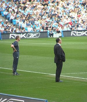 Stuart Pearce - Stuart Pearce managing Manchester City against Rafael Benítez's Liverpool in 2007.