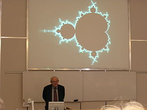 English: Benoit Mandelbrot and his fractal. Ph...