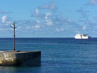 Foreign relations of Tuvalu - Manu Folau off Vaitupu Harbour