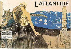 L'Atlantide (1921 film) - Poster by Manuel Orazi