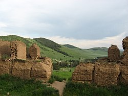 The ruins of the Mandsushir monastery