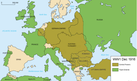 Map Europe WW1 Frontlines as of 1916 Map Europe WW1 Frontlines as of 1916.png