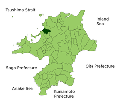 Location of Koga in Fukuoka