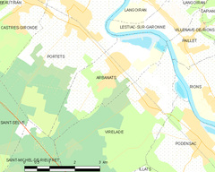 Map commune FR insee code 33007.png