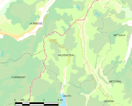 Mapa obce Wildenstein
