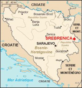 De locatie van Srebrenica