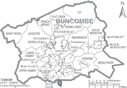 Map of Buncombe County North Carolina With Municipal and Township Labels.PNG