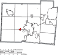 Map of Butler County Ohio Highlighting Millville Village.png