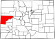 Map of Colorado highlighting Mesa County.svg