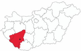 Roman Catholic Diocese of Kaposvár - Image: Map of Diocese of Kaposvar