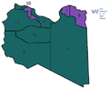 Map of Libya showing outlines of the ten governorates from 1963-1970.png