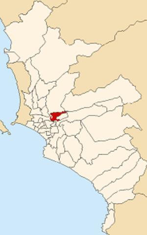 El Agustino - Image: Map of Lima highlighting EL Agustino
