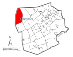 Map of Luzerne County, Pennsylvania Highlighting Fairmount Township.PNG