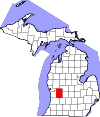State map highlighting Kent County