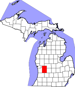 Map of Michigan highlighting Kent County.svg