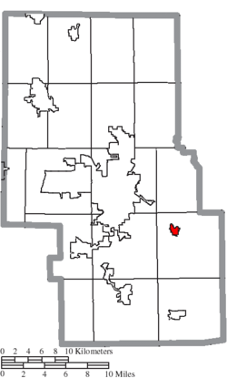 Location of Lucas in Richland County