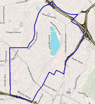 Map of Silver Lake district, Los Angeles, California.png