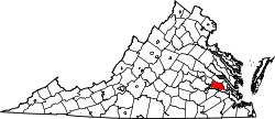 Map of Virginia highlighting Charles City County.svg
