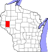 State map highlighting Dunn County