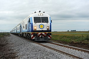 General Roca Railway - CNR CKD8G train travelling to Mar del Plata, March 2015.