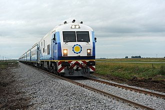 General Roca Railway - CNR CKD8G train travelling to Mar del Plata, March 2015.