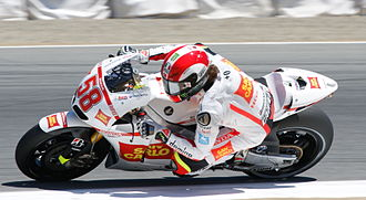 Marco Simoncelli - Simoncelli at the 2010 United States Grand Prix at Laguna Seca