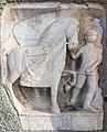 Maria Saal Zollfeld Gasthof Fleissner röm. Relief Mann mit Pferd 18102015 8146.jpg