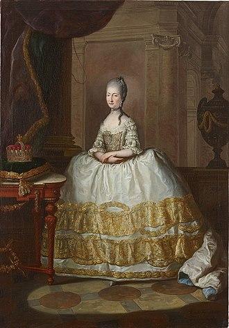 Maria Beatrice d'Este, Duchess of Massa - Portrait by Anton von Maron, 1772