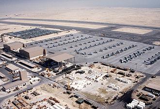 Marine Aircraft Group 11 - MAG-11 aircraft at Sheik Isa Air Base, Bahrain, in 1991.
