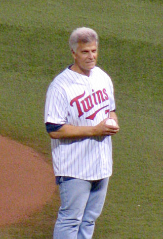 Mark Spitz - Mark Spitz, throwing first pitch at a baseball game (2008)