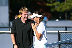 Mark Woodforde & Iva Majoli at the 2010 US Open 01.jpg