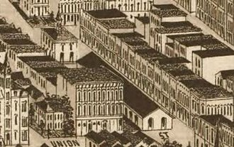 Market Square, Knoxville - Market Square, as it appeared on an 1886 map