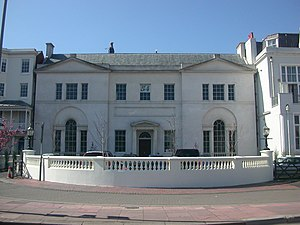 Marlborough House, Brighton - The building from the east