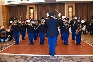 Maryland Defense Force - The Maryland Defense Force Band plays at the State Defense Force conference in October 2015.