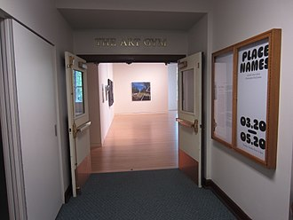 The Art Gym - Entrance from inside the B.P. John Administrative Building, 2018