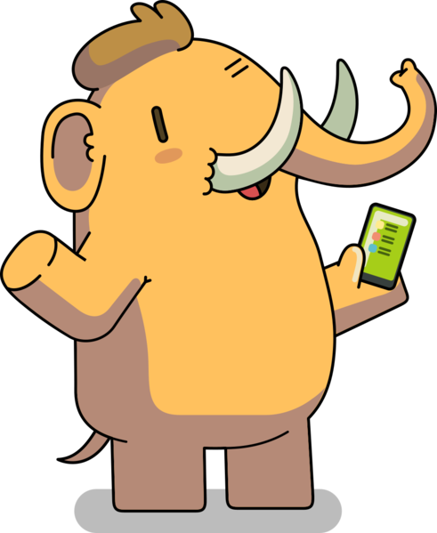 File:Mastodon Mascot (Greeting).png