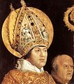Matthias Grünewald - Meeting of St Erasm and St Maurice (detail) - WGA10784.jpg