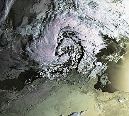 The second major Mediterranean tropical-like cyclone of 1996, while west of Italy on 7 October Mediterranean Cyclone 07 oct 1996 0603Z.jpg
