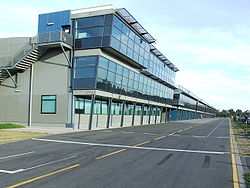 Melbourne Grand Prix Circuit pit building.jpg