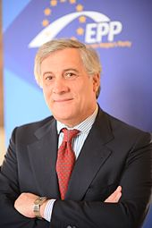 Photo de Antonio Tajani, président du Parlement.